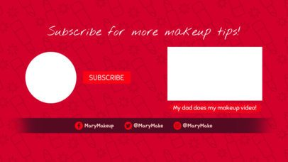 YouTube End Card Template with Girly Silhouettes 1262c