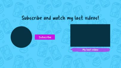 Kiddish YouTube End Card Template with Funny Drawings 1262e