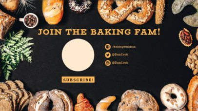 YouTube End Card Surrounded by Bread Bakery 1256a