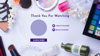 Cute YouTube End Screen with Beauty Supplies 1256d