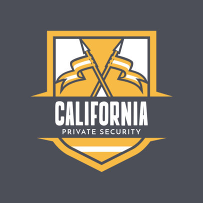Security Logo Generator for Security Services Featuring Flag Clipart 1787c