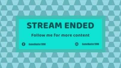 Twitch Overlay Template for an Ending Stream 1219a