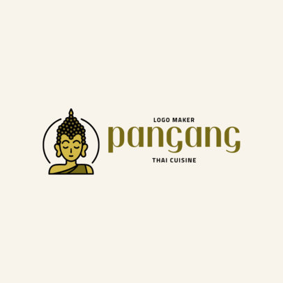 Thai Restaurant Logo Maker with a Buddha Clipart