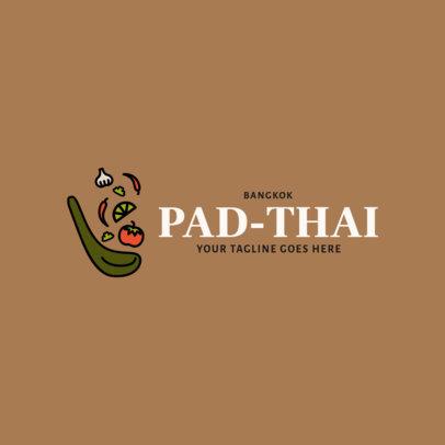 Online Logo Generator for a Modern Thai Cuisine Restaurant