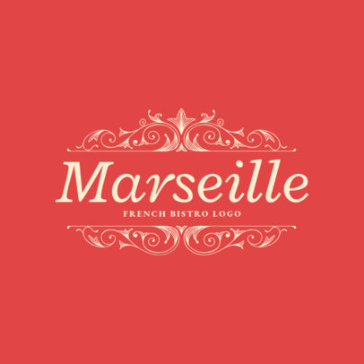 Restaurant Logo Maker for Classical French Cuisine 1808e