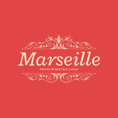 Restaurant Logo Maker for Classical French Cuisine 1808e