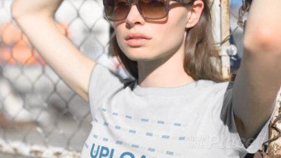 T-Shirt Video Maker of a Cool Woman in an Urban Scenario 13629