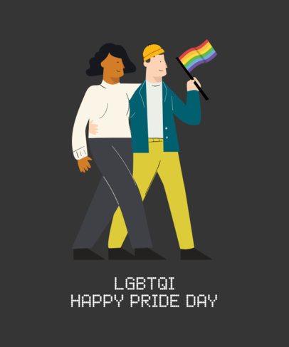 Pride T-Shirt Design Maker for Pride Month 1289a