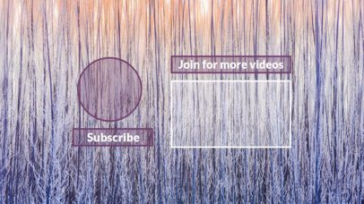 YouTube End Card with a Trendy Background Design 1253c