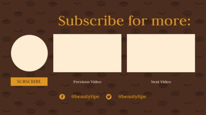 YouTube End Card Template with a Feminine Look 1254b
