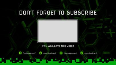 YouTube End Screen Template with Cool Blocks Graphics 1265b