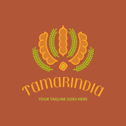 Simple Logo Maker for an Indian Food Restaurant 1834e
