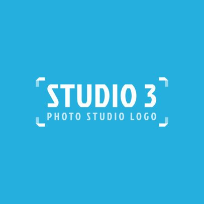 Trendy Logo Template for a Photography Studio 2171e