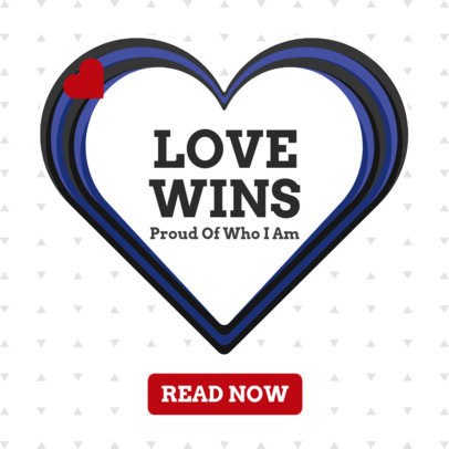 Love Wins Ad Banner Generator with a Dotted Surface 1295e