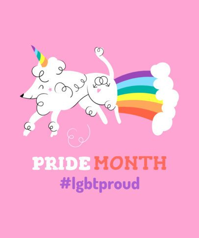 Funny LGBT Pride T-Shirt Design Maker 1294d