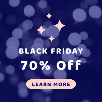 Huge Discount Online Banner Template for Black Friday 753b
