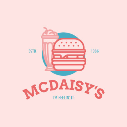 Online Logo Maker for a Burger Ship Pink Theme 1248b