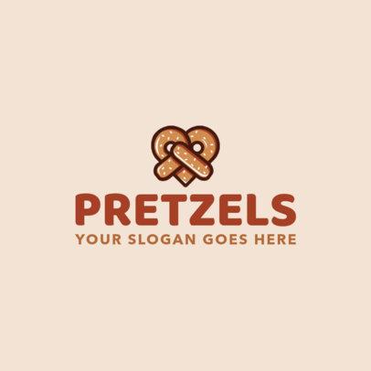 Pretzel Logo Maker for restaurant Logos 1029b