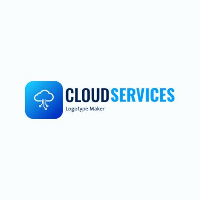Tech Logo Maker with a Cloud Clipart 2177e