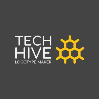 Tech Logo Maker with an Abstract Hive Graphic 1135e