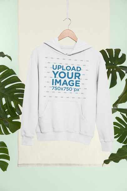 Mockup of a Hanged Pullover Hoodie in a Tropical Setting 27020