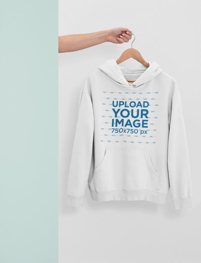 Mockup of a Woman's Arm Showing a Hanged Hoodie 26887