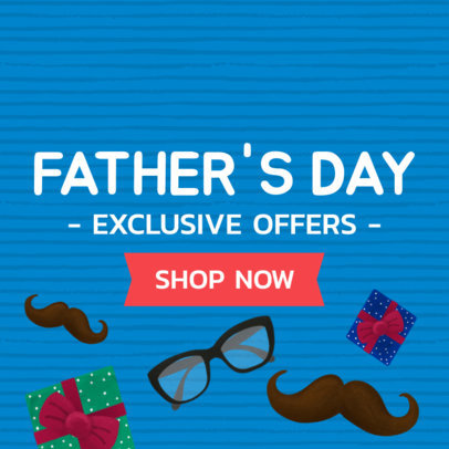 Online Banner Maker for a Father's Day Exclusive Offer 282g