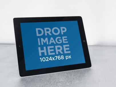 Black iPad White Background Landscape
