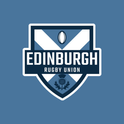Rugby Logo Generator for a Rugby Union 1615b
