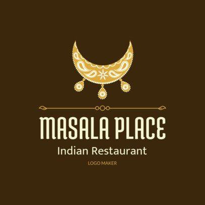 Restaurant Logo Maker with an Ornamental Indian Clipart 1830a