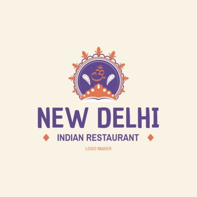 Classic Indian Restaurant Logo Generator 1830c