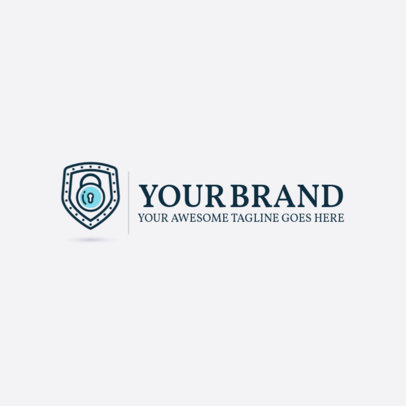 Cyber Security Logo Maker with Simple Design 1791e