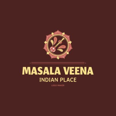 Indian Food Place Logo Template with an Abstract Clipart 1830d
