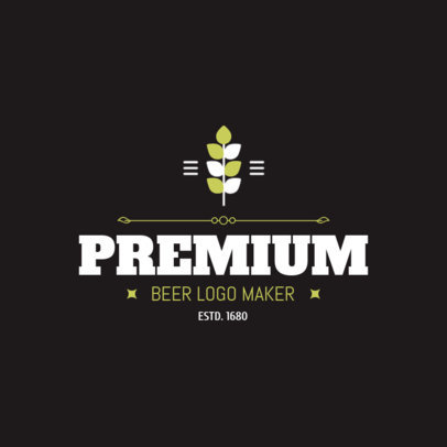 Premium Beer Logo Maker with Simple Designs 1654a