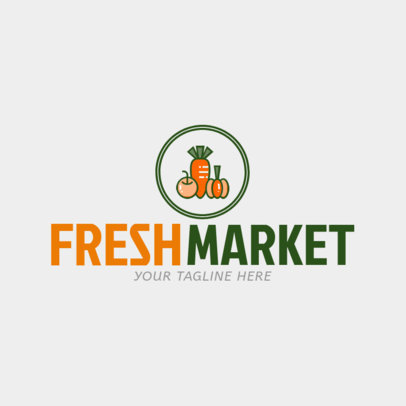Grocery Store Logo Maker with Shopping Basket Icon 1190b