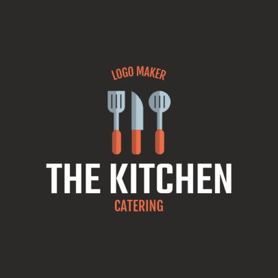 Catering Logo Generator with Kitchen Tools Clipart 1924c
