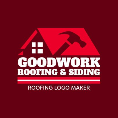 Roofing Carpentry Logo Template 1480d