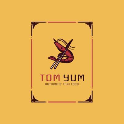 Cool Thai Food Logo Maker for a Spicy Thai Restaurant 1841d