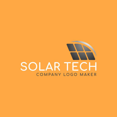 Ecotechnology Company Logo Maker with a Solar Panel Graphic 2173e