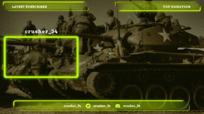 Livestream Twitch Overlay Maker Featuring a Military Design 1242c