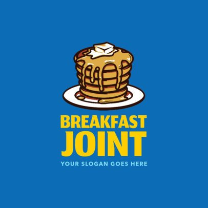 Logo Creator for a Breakfast Restaurant with Hotcakes Clipart 1029c