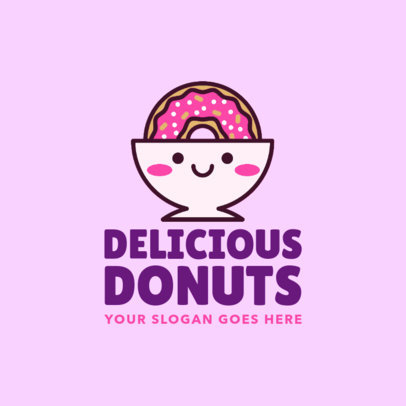 Cute Logo Creator for a Donut Bakery 1029d