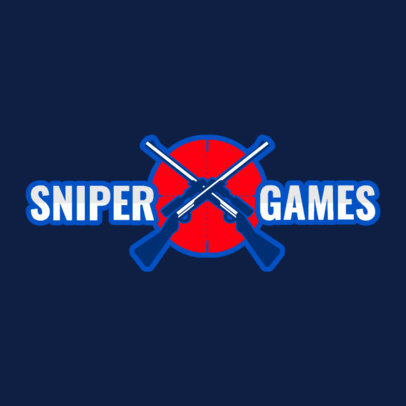 Logo Template for a Sniper-Shooting Gaming Squad 1870e