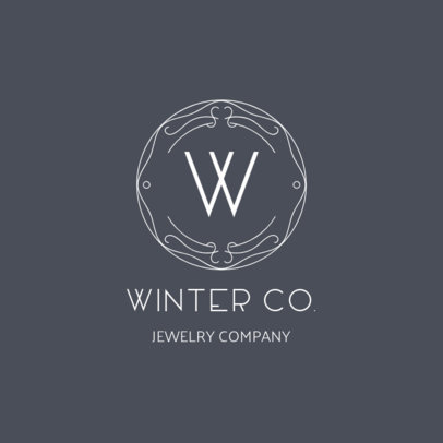 Jewelry Logo Template with a Trendy Design 2190a