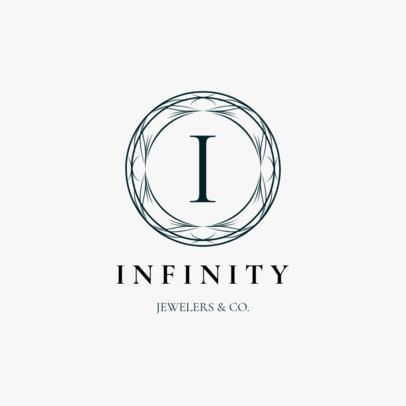 Lavish Jewelry Logo Maker for a Classical Jewelry Store 2190e