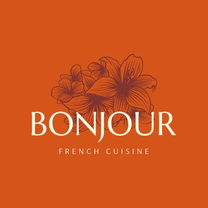 Elegant Logo Maker for French Restaurants 1219c
