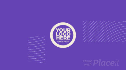 Intro Maker for a Logo Reveal with Geometric Animations and Glitch Effects 1519