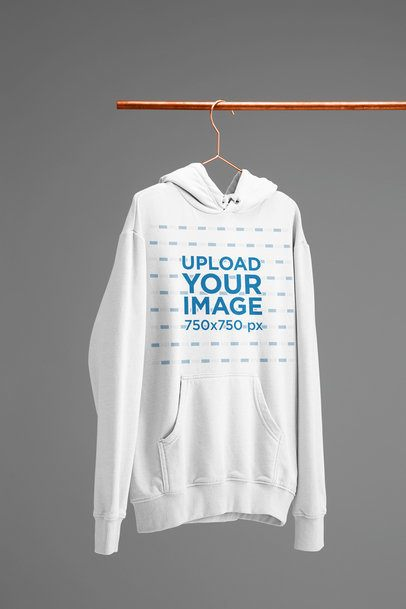 Mockup of a Hanged Women's Hoodie against a Plain Background 27394