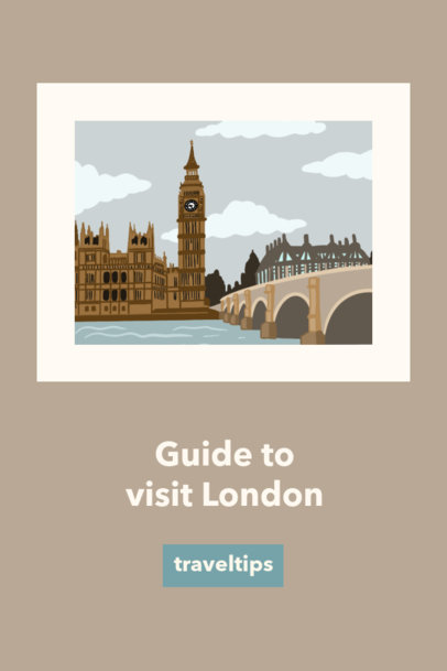 Travel Pinterest Pin Maker with World Landmarks Illustrations 1126a