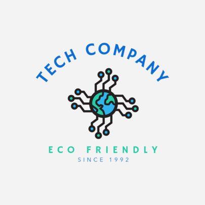 Eco-Friendly Tech Company Logo Maker with a Modern Design 2175